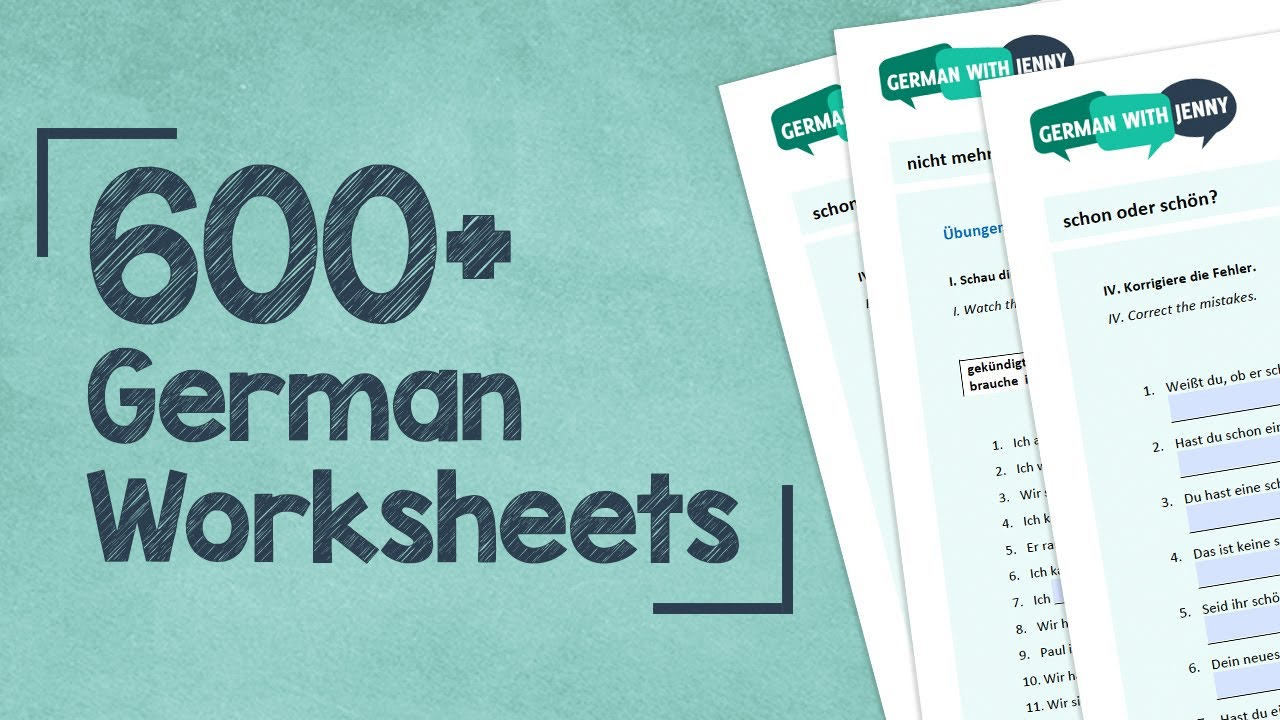 Get 600+ Worksheets for 49€! - Lifetime Access Available - More Info in the  Description Below