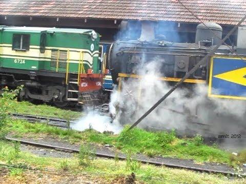Arriving at Coonoor- Steam & Diesel World Nilgiri Mountain Railway (INDIAN RAILWAYS)