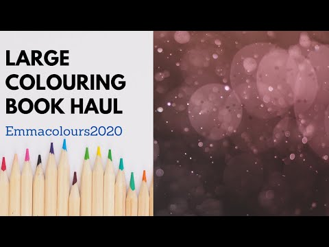 Large Adult Colouring Book Haul September 2020