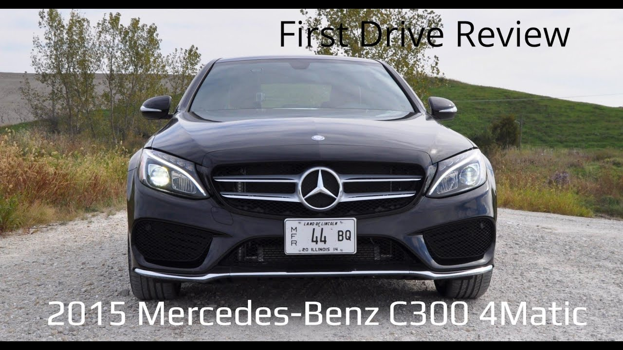 first drive review 2015 mercedes benz c300 4matic car revs youtube. Black Bedroom Furniture Sets. Home Design Ideas
