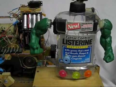 how to make a robot out of water bottles