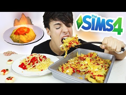 i only ate THE SIMS FOODS for 24 hours!!! lmao