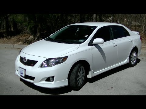 2010 Toyota Corolla S Startup Tour Test Drive Youtube
