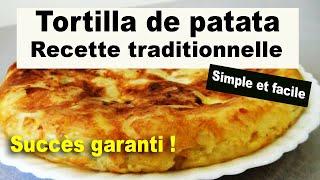 Tortilla de patata recette traditionnelle espagnole