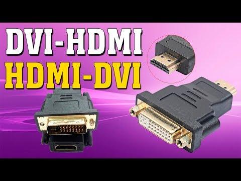 Распаковка посылки адаптер конвертер DVI-I HDMI
