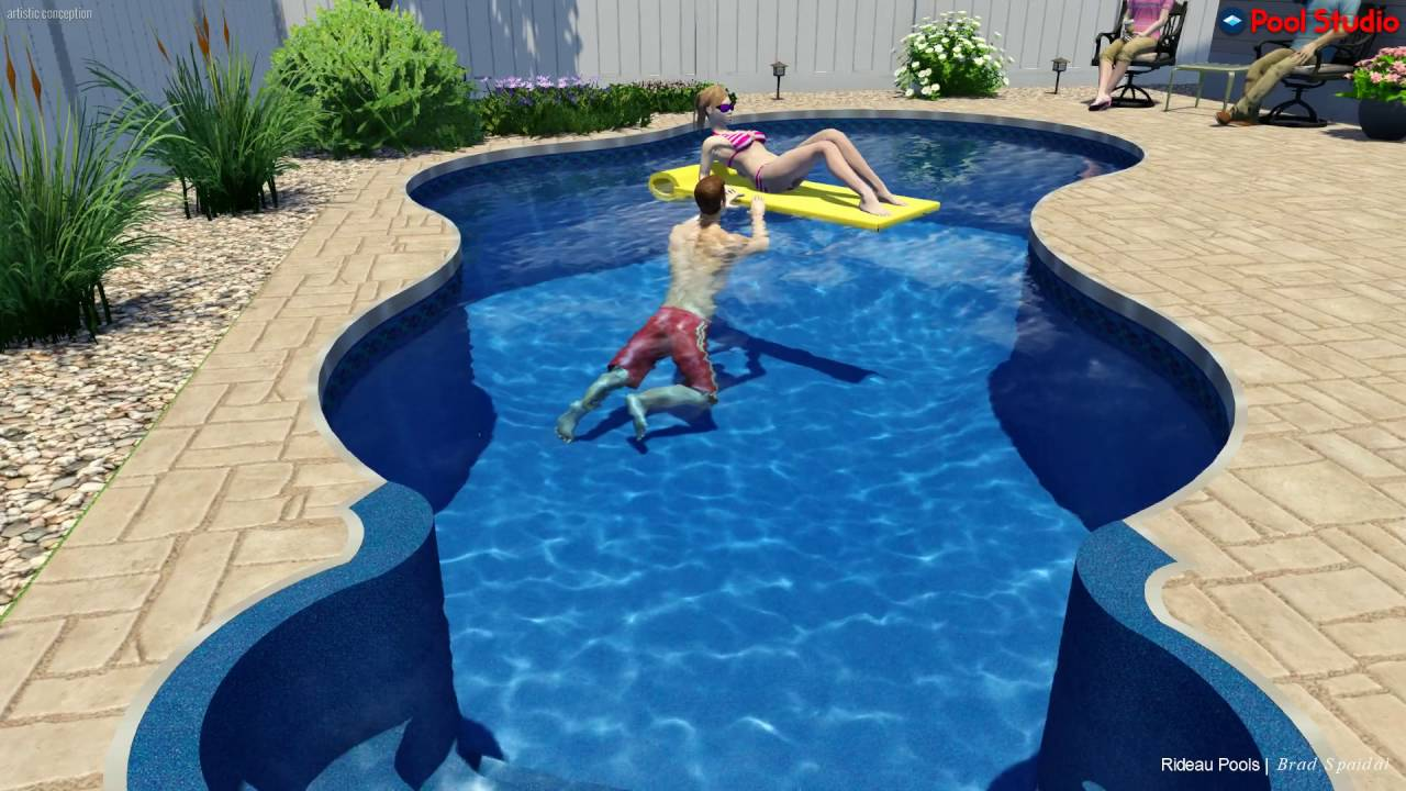 Lagoon Shaped Pool Design by Rideau Pools Ottawa - YouTube