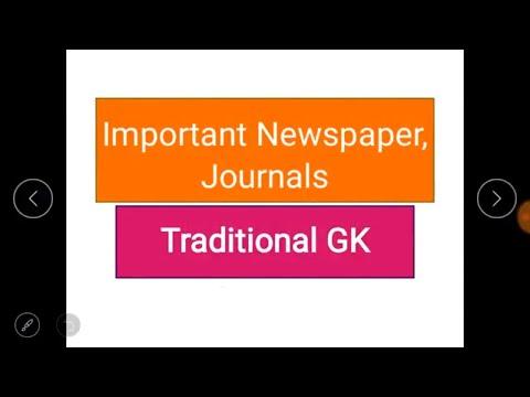 Important Newspaper & Journal