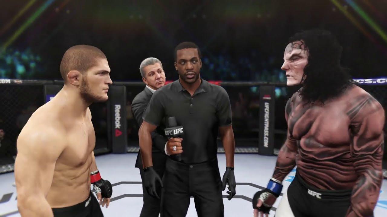 Khabib vs. Hell Monster - EA Sports UFC 2 - Champion Fight