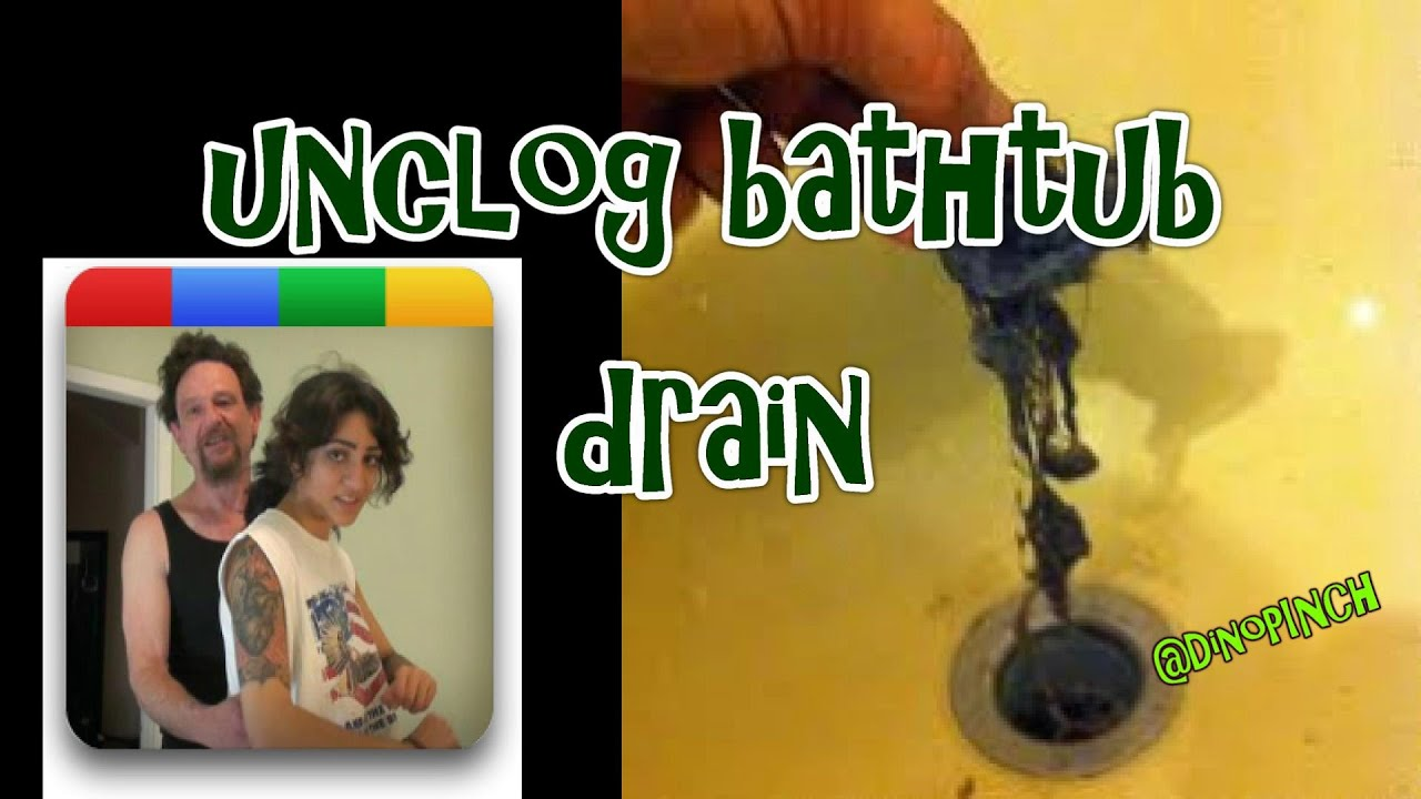 How To Clear Clogged Bathtub Drain, Slow Drain, Stopped Up