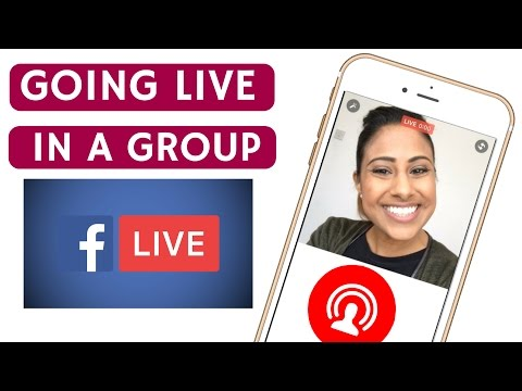 How To Go Live In A Facebook Group & Facebook Page | VEENA V