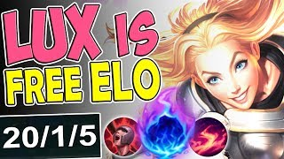 Download lagu NEW RUNES LUX IS FREE ELO MID LANE BUILD MOST BROKEN LUX MID SEASON 8 RANKED League of Legends MP3
