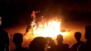 Camping La Playa  Ibiza 2017 Feuertanz Dahab06 Club Cala Martina
