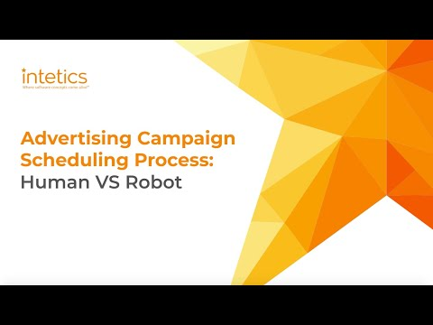 RPA vs Human: advertising campaign scheduling process
