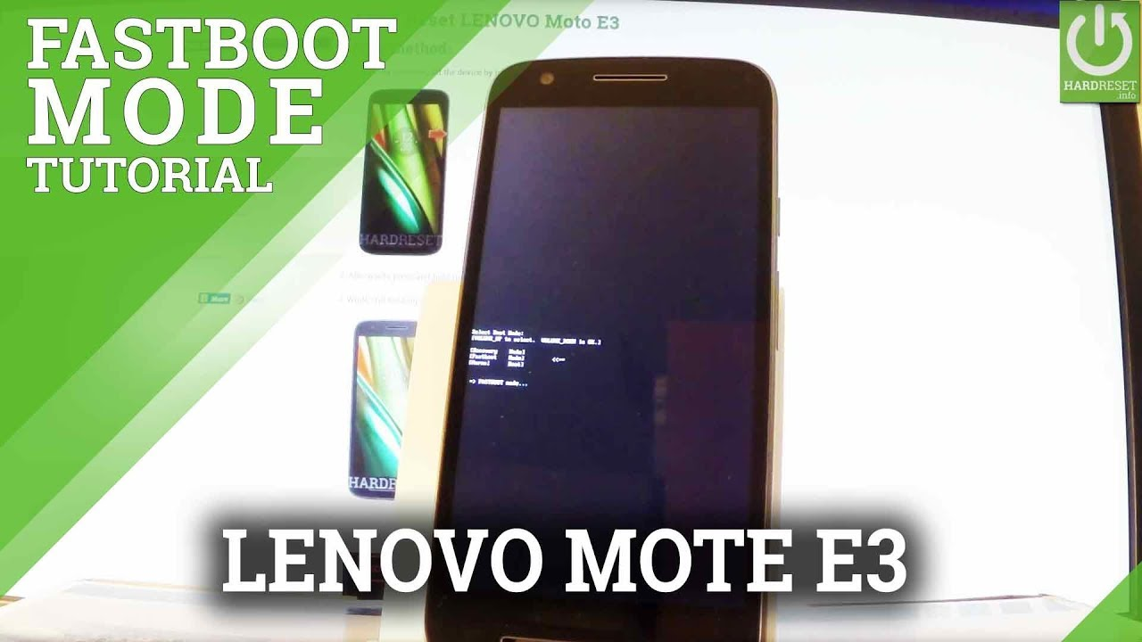 How to Open Fastboot Mode LENOVO Moto E3 - Quit Fastboot
