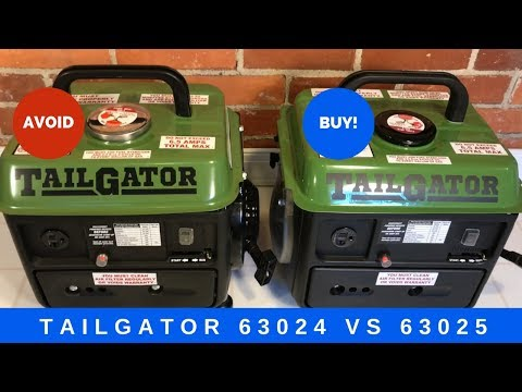 TailGator generator 63024 vs 63025 comparison - Which Harbor Freight Generator to buy?