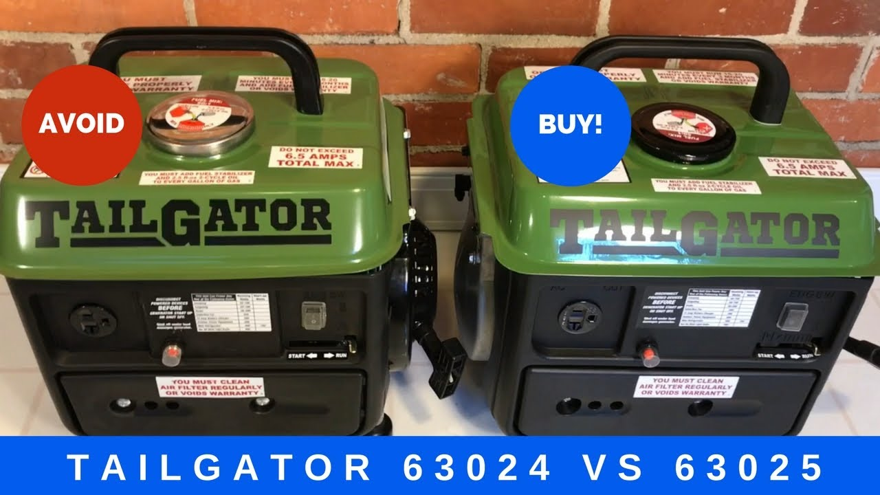 Tailgator Generator 63024 Vs 63025 Comparison Which