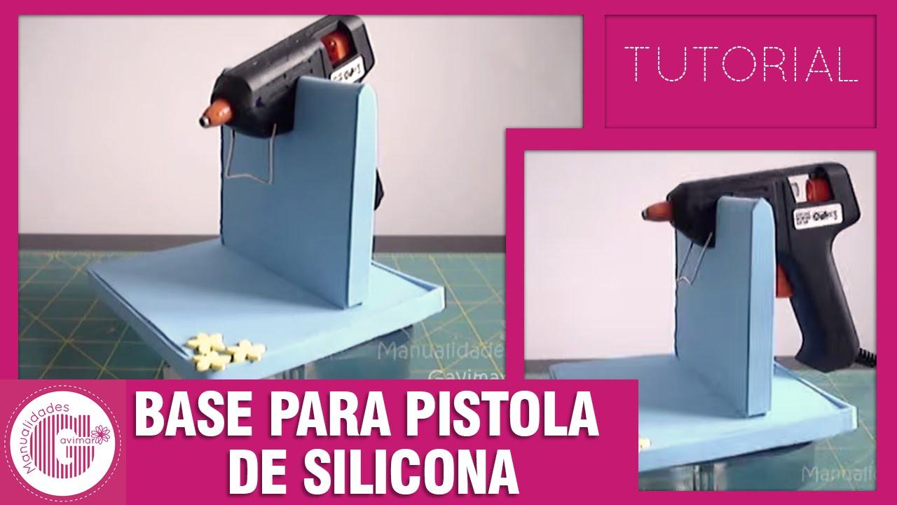 Foami tutorial base para pistola de silicona youtube - Como quitar silicona de la pared ...