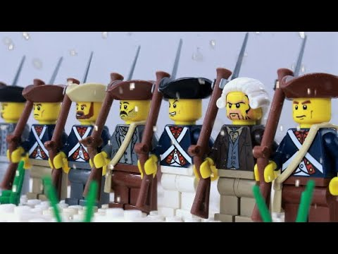 Lego Battle of Trenton - American Revolution stop motion