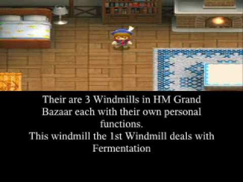 1st Windmill Video And Codes Harvest Moon Ds Grand Bazaar