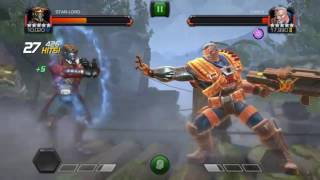 Marvel contest of champions alliance war fights and master final boss cable monthly quest qwenpool