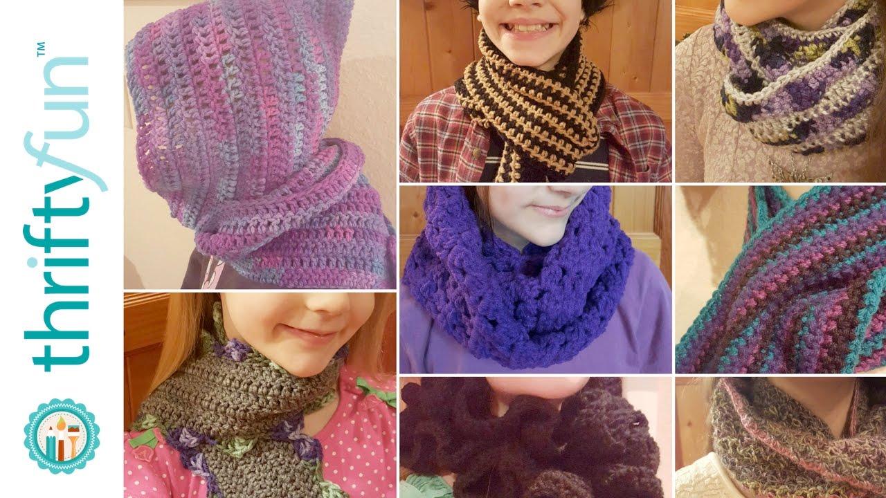 8 Unique Crochet Scarf Ideas Youtube