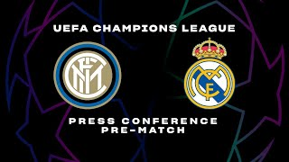 INTER vs REAL MADRID | LIVE | CONTE + HANDANOVIC PRE-MATCH PRESS CONFERENCE | 🎙️⚫🔵 [SUB ENG]