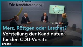 Vorstellung der kandidaten für den cdu-parteivorsitz friedrich merz, armin laschet und norbert röttgen am 14.12.20.