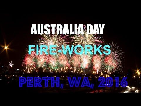 AUSTRALIA DAY  FIREWORKS  PERTH WA  2016
