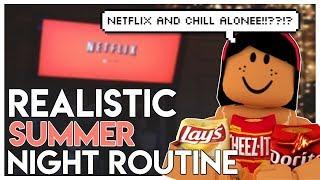 REALISTIC SUMMER Night Routine 2019 | Bloxburg Roleplay | SunsetSafari