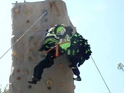 Chinese Lion rock climbing
