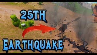 FORTNITE - EARTHQUAKE EVENT LIVE - 25th MAP CRACK HAPPENING NOW FIRE AND SMOKE RISING WAILING WOODS