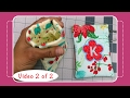 Snap Pouch Tutorial with Machine Embroidery Applique - Video 2 of 2