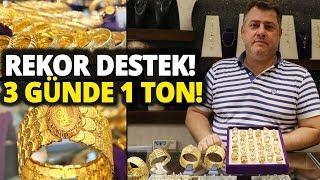 Cumhurbaşkanı Erdoğan Talimat Verdi, Adana'da 3 Gün İçinde 1 Ton Altın Bozduruldu