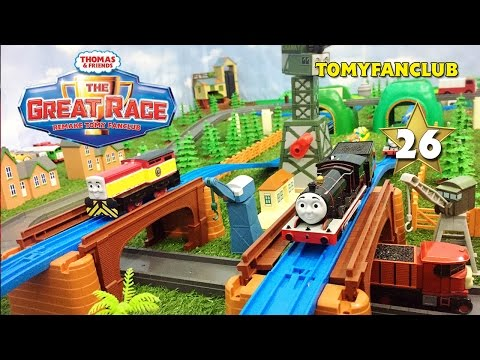 THOMAS AND FRIENDS THE GREAT RACE #26 TRACKMASTER NEW ENGINE BLACK JAMES   TOMY FANCLUB