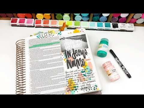 Power Filled Prayers | Finger Painting | Bible Journaling Process