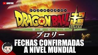 NUEVAS FECHAS DE ESTRENO PARA ESTRENO DRAGON BALL SUPER BROLY LA PELICULA A NIVEL MUNDIAL