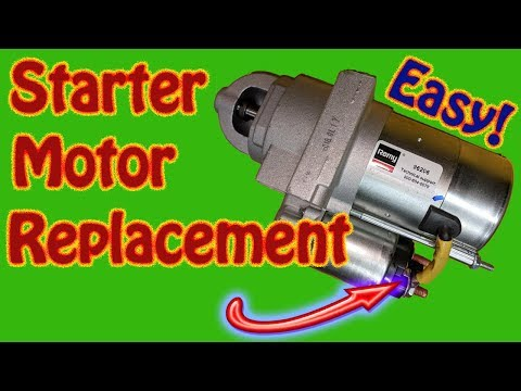 How to Replace a Starter Motor Chevy K1500 Silverado Starter Motor Replacement GMC Sierra