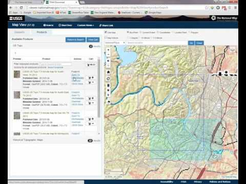 Downloading Maps with The National Map Download Client