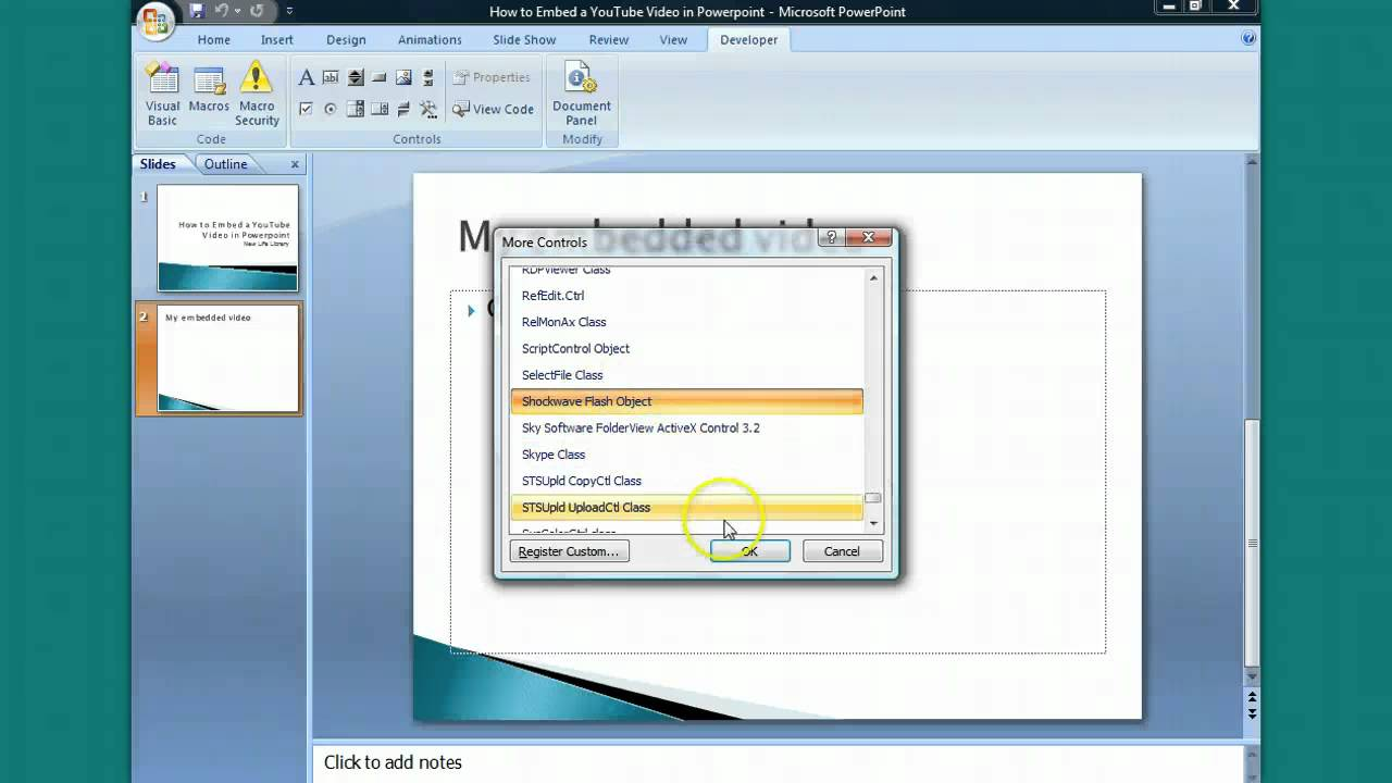How To Embed A Youtube Video In Powerpoint  1_youtube_videos_in_powerpoint_2007_einbetten  2_youtube_videos_in_powerpoint_2007_einbetten