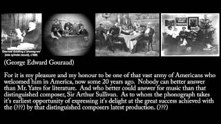 October 5, 1888 - Dinner party in London introducing phonograph (Remastered with transcript)