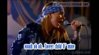 sweet child o mine guns n roses karaoke without vocal
