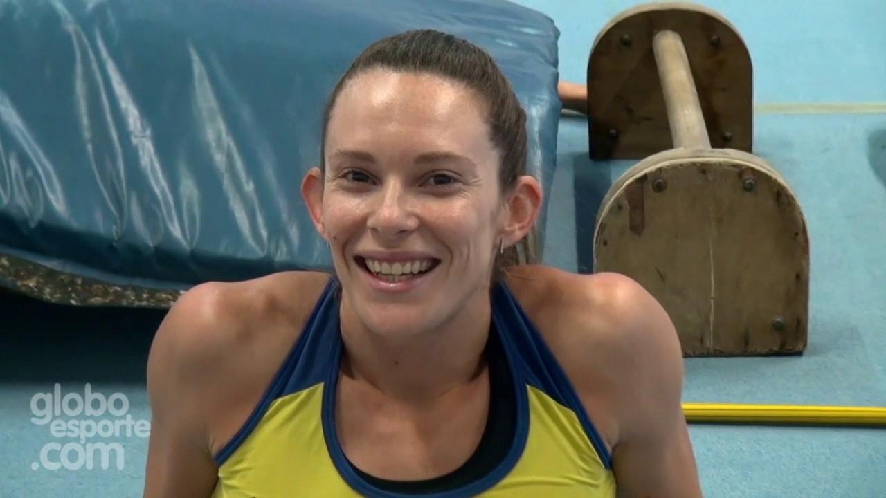 || ESPORTES || Fabiana Murer - treino de uma das maiores atletas de salta com vara do Brasil