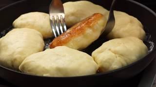 Пирожки с картошкой жареные на сковороде — вкусный домашний рецепт