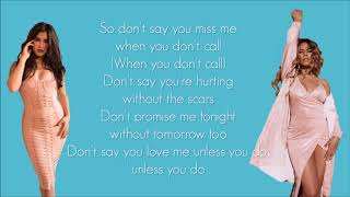 Fifth Harmony -  Don't Say You Love Me (Lyrics)