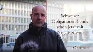 Schweizer Obligationen-Fonds schon jetzt mit Negativzinsen