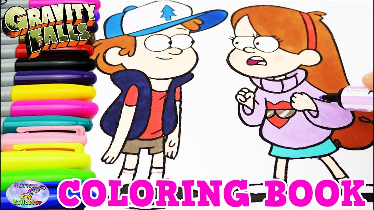 Gravity Falls Coloring Book Dipper Mabel Disney Xd Episode