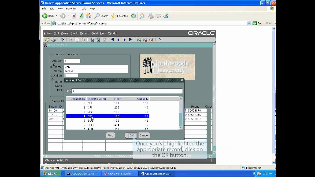 oracle forms 10g tutorial