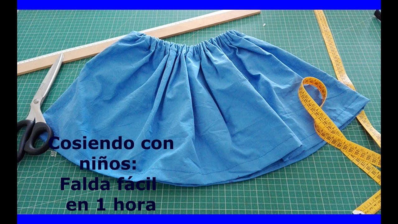 6b79c8fbf DIY: Como hacer una falda fácil y sencilla para la función del colegio en  cosiendo con niños