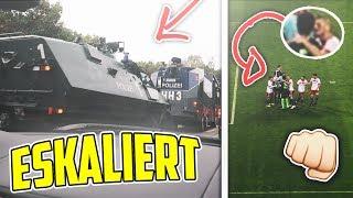 FUSSBALL SPIEL ESKALIERT !!? 👊🏼⚽️  HSV - Bremen  Stadion VLOG   Marlon