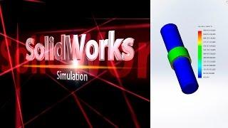 SolidWorks Simulation. Статический анализ. Горячая посадка. (Урок 11) / SolidWorks Simulation